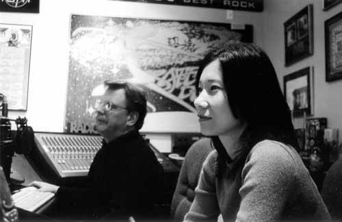 Cindy and Mike at audio recording studio
